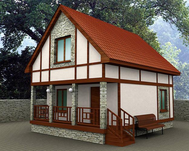 Дачные домики проекты своими руками фото