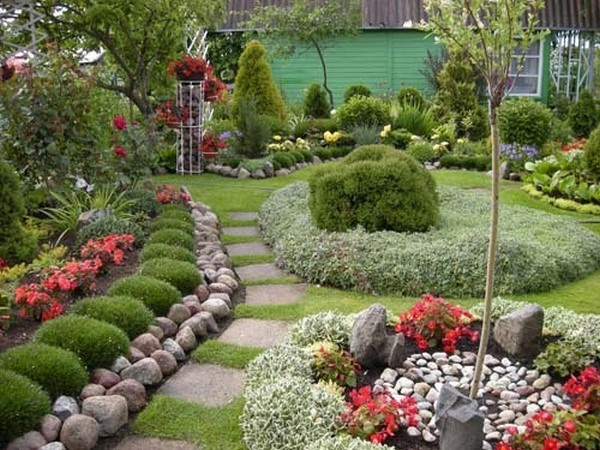 Огород сад дизайн