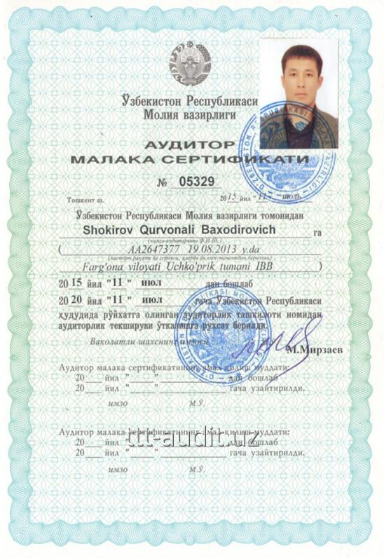 Шокиров Курвонали Баходирович
