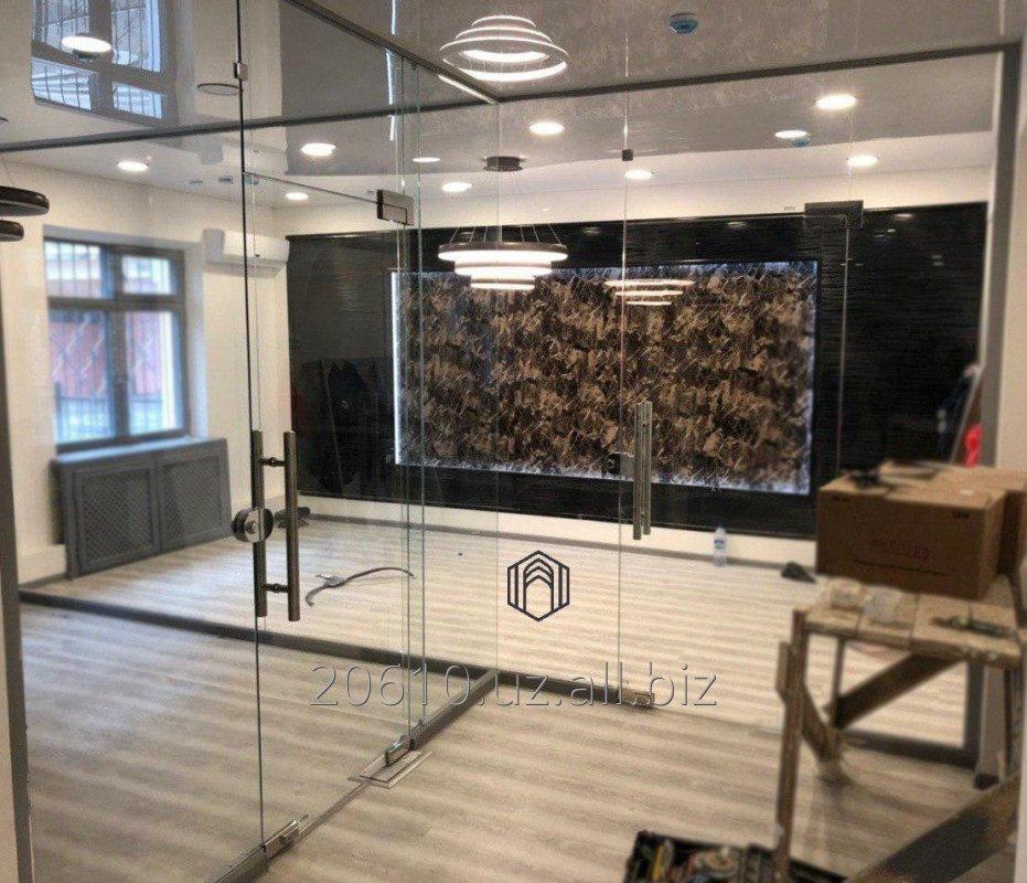 Заказать Межкомнатные стеклянные двери на заказ из калёного стекла (10мм)