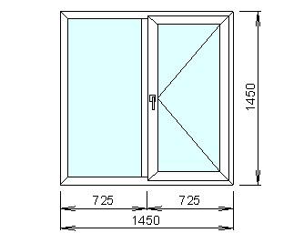 Заказать Расчёт цены на пластиковое окно с другой конфигурацией