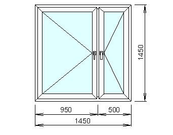 Заказать Расчёт цены пластикового окна с двумя створками