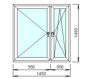 Заказать Расчёт цены пластикового окна с механизмом двойного открывания