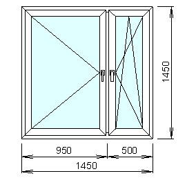 Заказать Расчёт цены пластикового окна с двухкамерным стеклопакетом