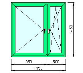 Заказать Расчёт цены пластикового окна (декор под дерево с обеих сторон)
