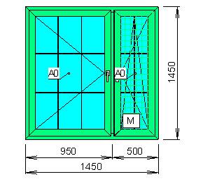 Заказать Расчёт цен пластикового окна с декоративной раскладкой