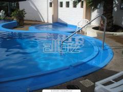 Услуги по оборудованию бассейнов, саун, бань
