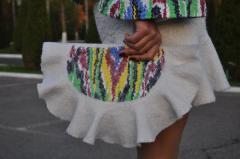 Сумочка-клатч ручного валяния из шерсти