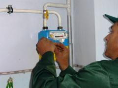 Установка счетчиков газа