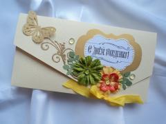Печать поздравительных наборов, конверт и открытка
