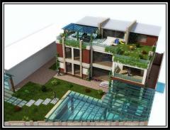 Дизайн зданий различного назначения в стиле хай-тек