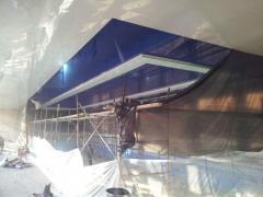 Работы по натяжным потолкам