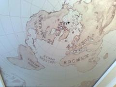 Фотопечать на натяжном потолке карта