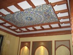 Фотопечать на натяжном потолке мозаика