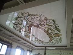 Фотопечать на натяжном потолке зал, орнамент