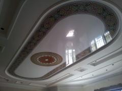 Фотопечать на натяжном потолке глянец орнамент