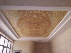 Фотопечать на натяжном потолке абстракция для бассейна