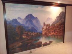 Фрески в зал, холст, Descor