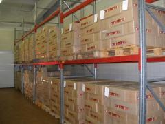 Складирование и хранение грузов на паллетах
