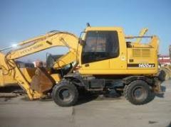 Услуги колесного Экскаватора Hyundai 1400W и
