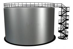 Строительство резервуара регенерированного