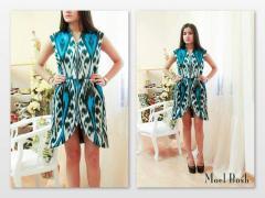 Женские платья ткань икат, адрас