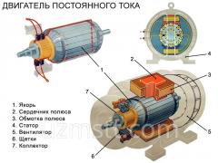 Service of electric motors,