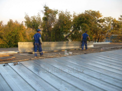 Construction of industrial roofs