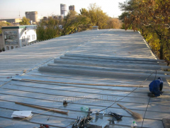 Repair of industrial roofs