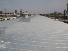 Services in a roofing covering