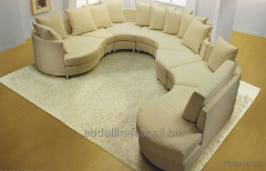 Upholstery of leather furniture