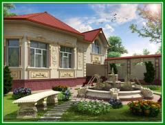 Design of an exterior of buildings, houses,