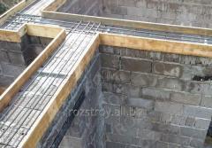 Работа по укладке бетона