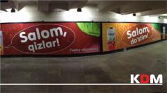 Размещение рекламы в метро, автобусах и Торгово развлекательных центрах