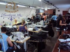 Выполняем нужные объемы по пошиву