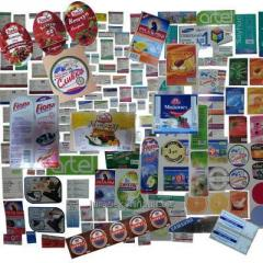 Design of labels, packings, stikers