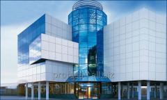 Установка монтаж алюминиевых композитных панелей высокого качества.