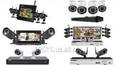 Комплект с 3 камерами видеонаблюдения