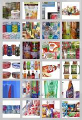Печать (флексопечать) упаковочных пакетов и этикетов