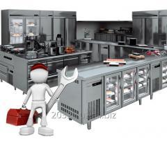 Техническое обслуживание оборудования для профессиональных кухонных блоков ресторанов, столовых, кафе,магазинов, супермаркетов.