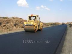 Асфальтирование дорог в Ташкенте с использованием крупнозернистого асфальтобетона.