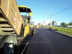 Асфальтирование дорог в Ташкенте (мелкозернистый асфальт)