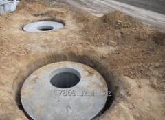 Установка бетонных колодцев