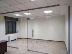 Бескаркасные стеклянные перегородки на заказ в Ташкенте.