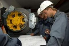 Ремонт компонентов лифтов и подъемного