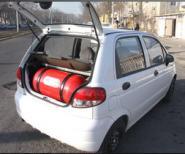 Заправка автомобилей сжатым газом метаном и